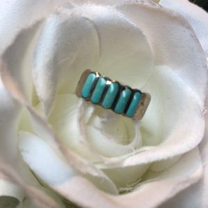Handmade sterling/turquoise native ring size 6.5
